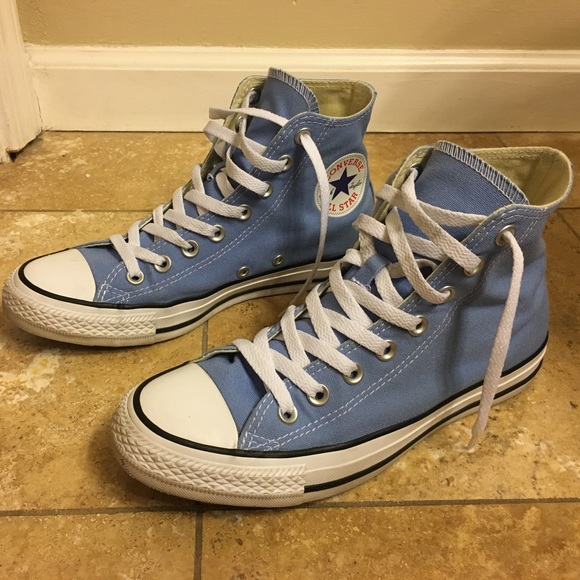 7579b50a62b5a1 Converse Shoes - Carolina blue hightop Converse sneakers
